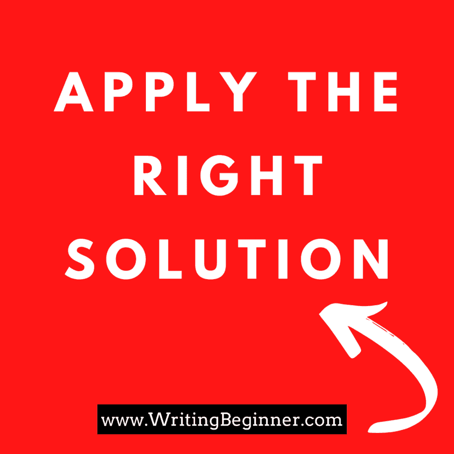How to Overcome Writer's Block section heading image - apply the right solution