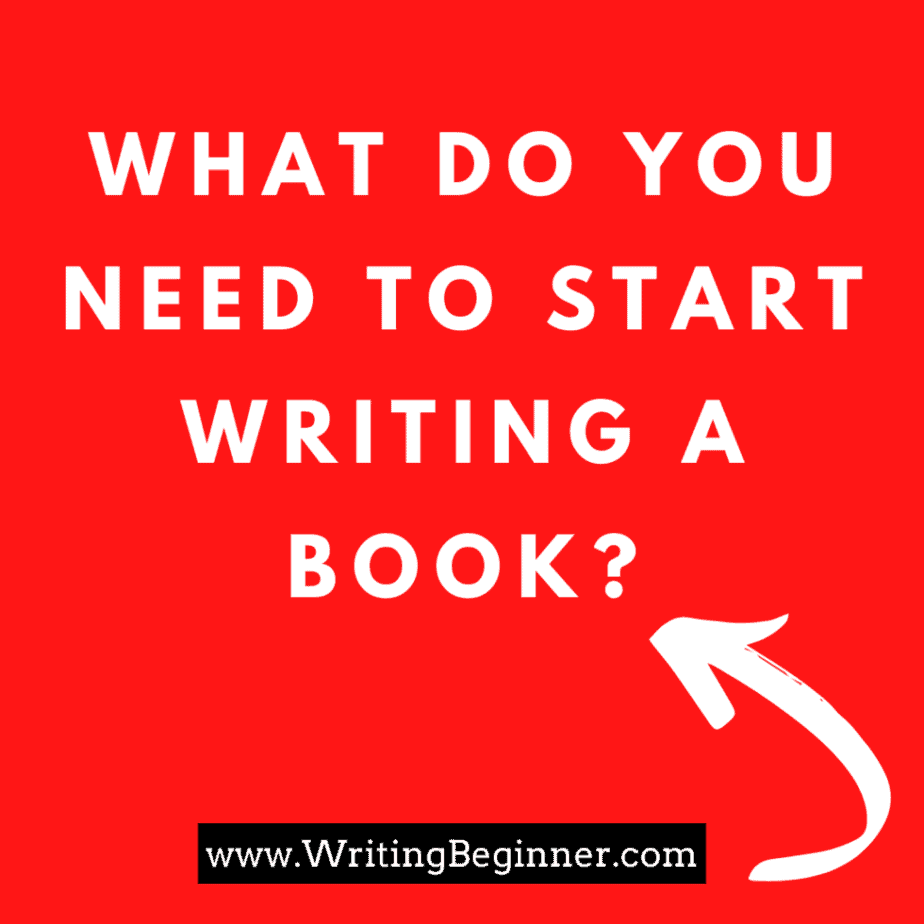 What do you need to start writing a book? Image for subheaded