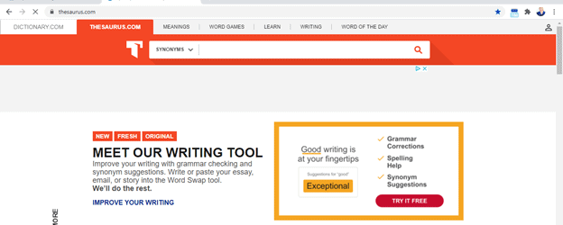 Best-Thesaurus-for-writers-website