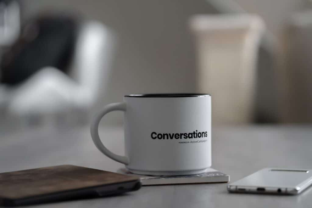 Can you start a novel with dialogue coffee cup image