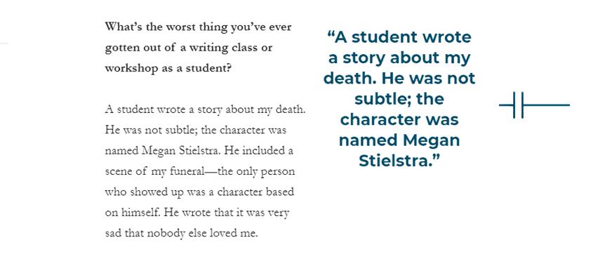 Creative Writing Workshop Horror Story example image Student story