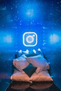 Instagram image with pillows for is social media good or bad for writers