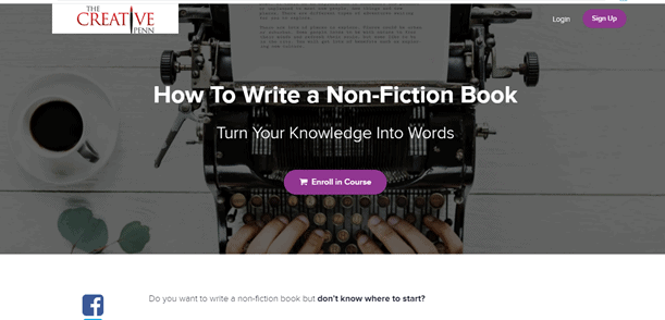 The Creative Penn Nonfiction Book Course for what courses to take to become a writer