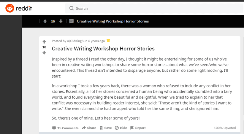Worst Writing Conference Horror Stories Reddit image