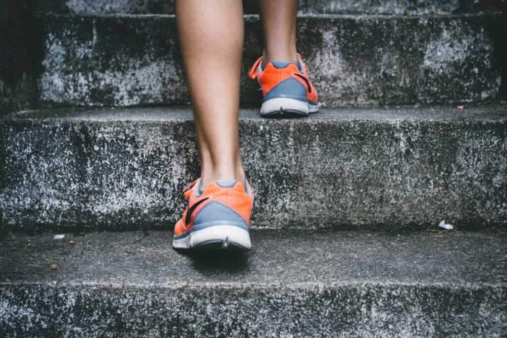 Writing Sprints Runner going up stairs image