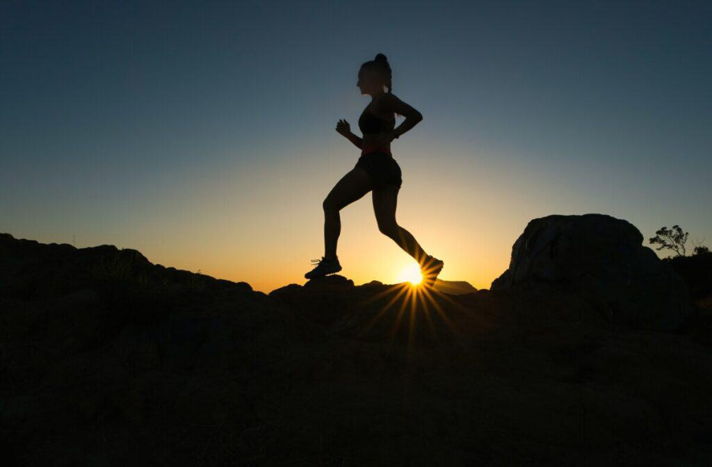 Writing Sprints blog image runner on hill