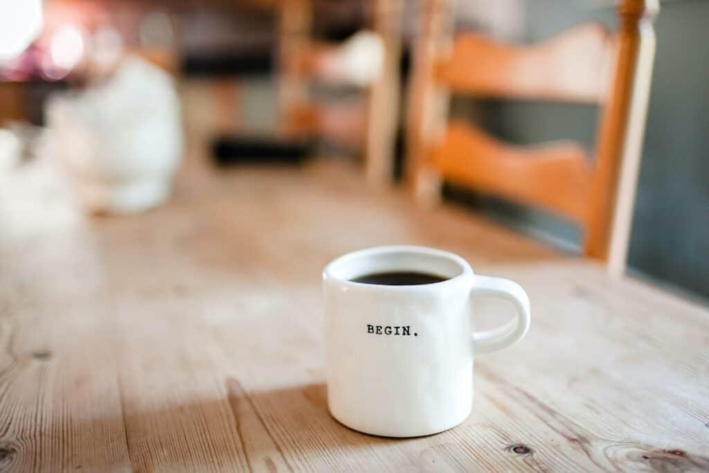 eBook marketing strategies - coffee cup