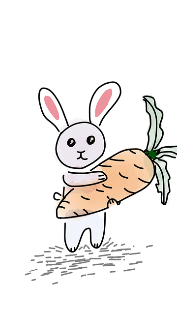rabbit holding carrot image for writing conference checklist blog post