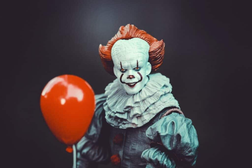 scary clown image for can you write a scary story in 150 words
