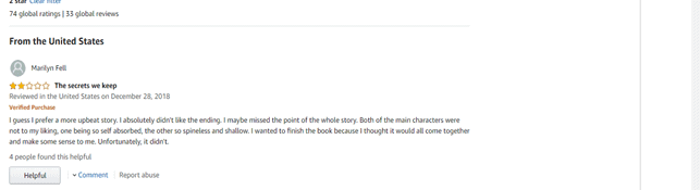 Bad amazon book review example