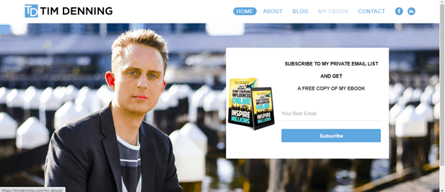 Can you make money on Medium Tim Denning website screenshot