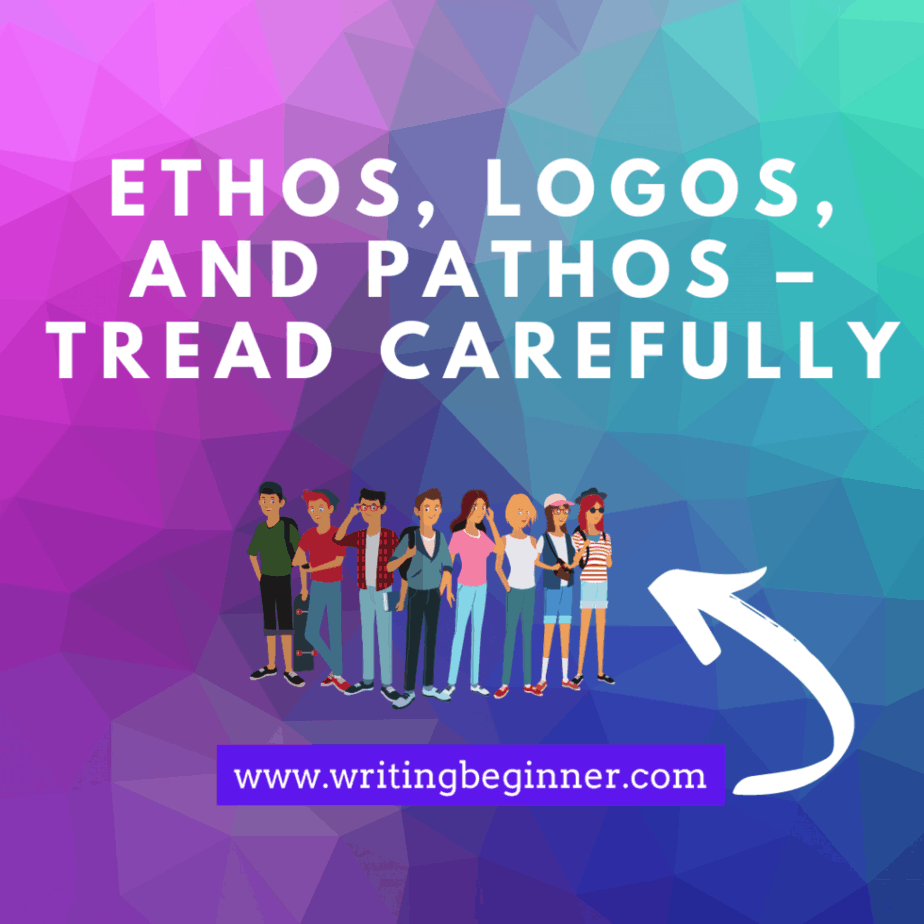 Ethos, Logos, and Pathos – Tread Carefully  Down Syndrome graphic for writing characters with Down Syndrome