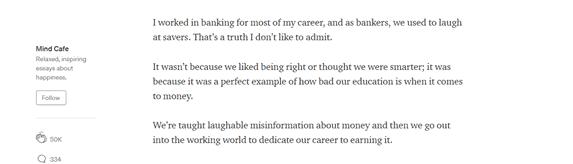 How Much Money can you make on Medium Tim Denning article screenshot