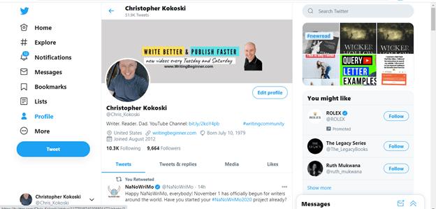 My Twitter Account Screenshot