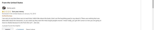 Negative Amazon Review example screenshot