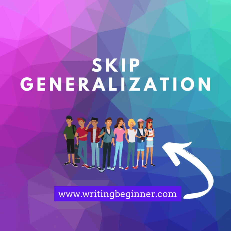 Skip generalization graphic for writing characters with Down Syndrome