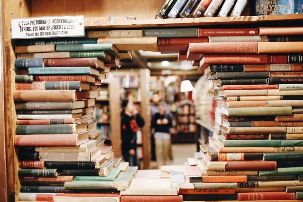 bookstore image for adverbs blog post