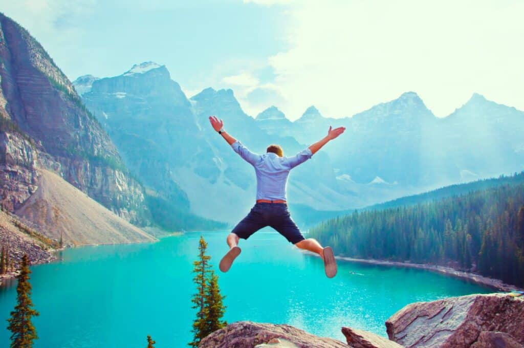 jumping man image for adverbs blog post