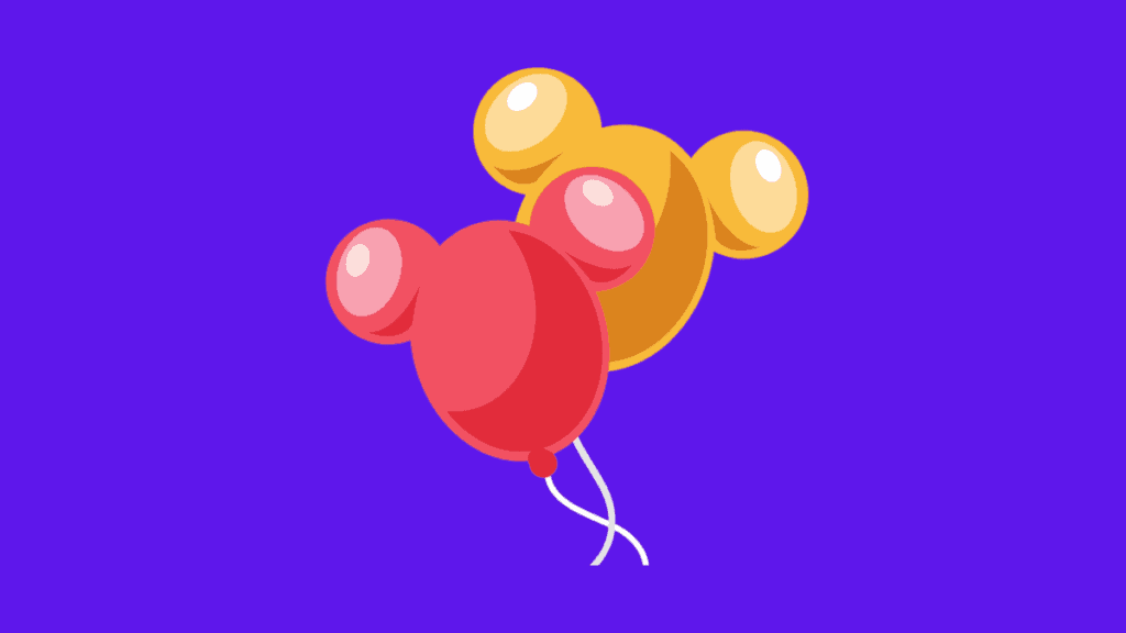 Red and yellow Mickey mouse head shaped balloons for How to become a writer for Disney