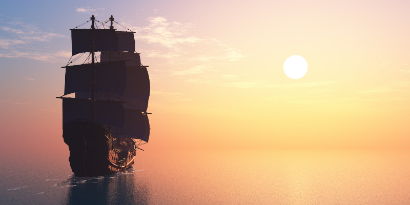 """Ship with sails in the sunset for my article, """"Which writer coined the phrase, """"Ships that pass at night""""?"""